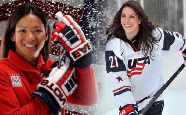 Встреча с посланницами спорта, игроками Женской сборной США по хоккею Джули Чу и Хилари Найт