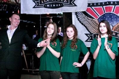 волонтеры движения БРСМ «Доброе Сердце» Минской областной организации, Минского лингвистического колледжа и ОБО «Белорусский детский хоспис»