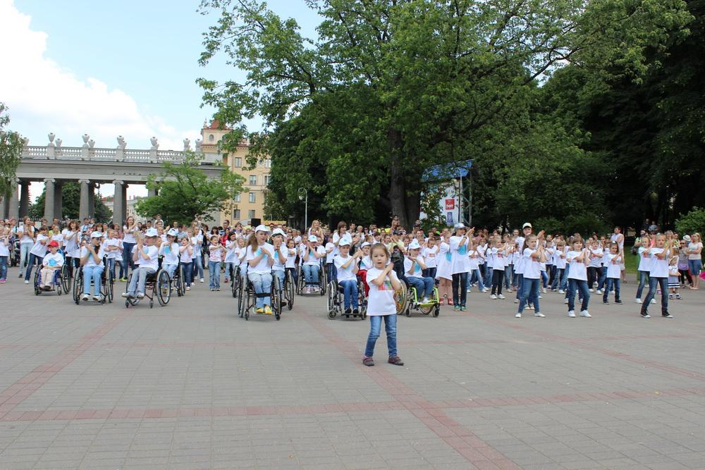 Танцевальный флешмоб с участием детей с особенностями развития состоялся в Минске
