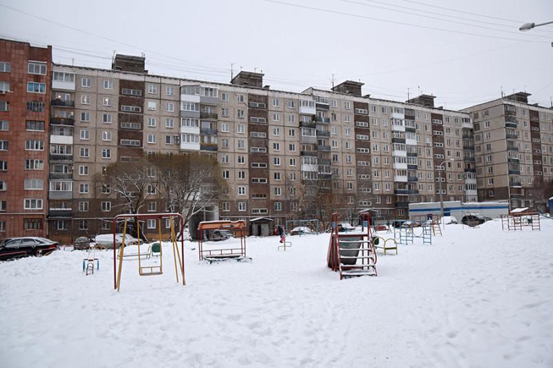 Фото: Вид на двор, который боится потерять соседка сверху.