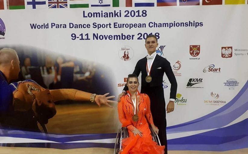 Белорусские спортсмены завоевали пять медалей на чемпионате Европы по спортивным танцам на колясках