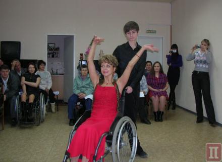 Романтическое танго на инвалидной коляске