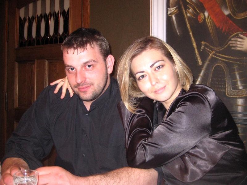 Анна Горчакова с мужем